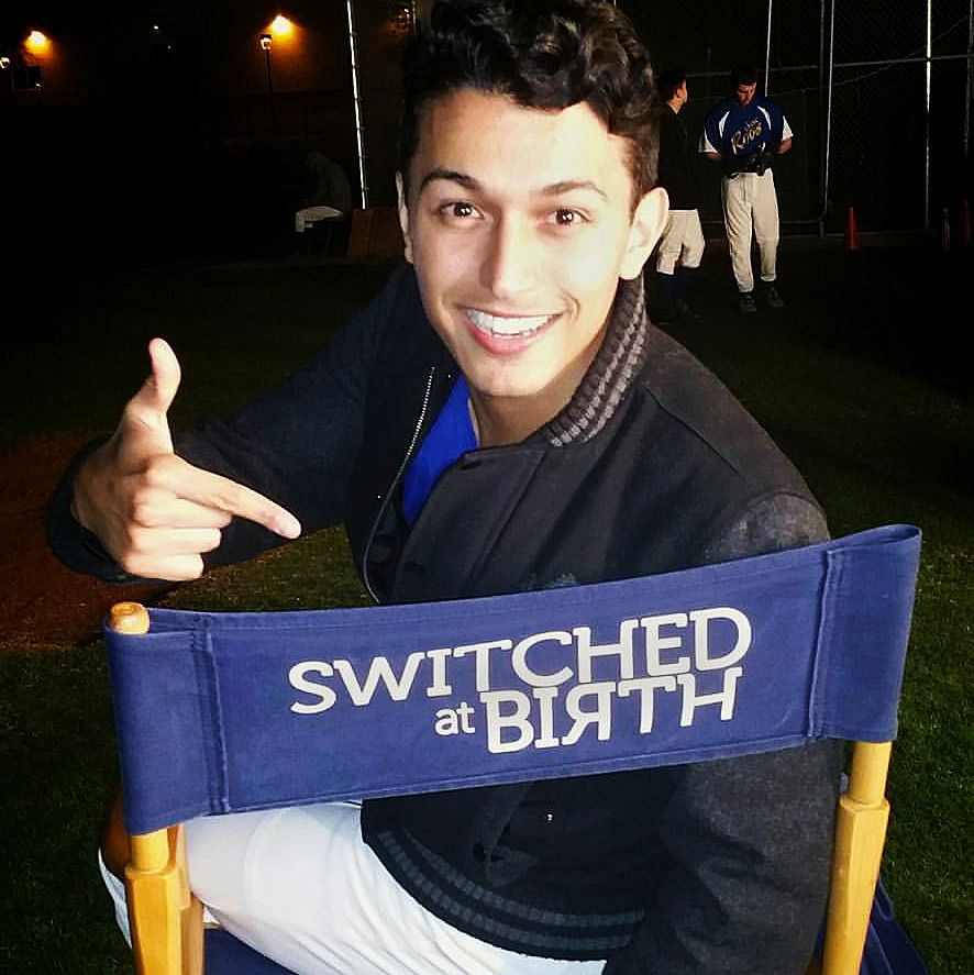 Paul on set for Switched at Birth