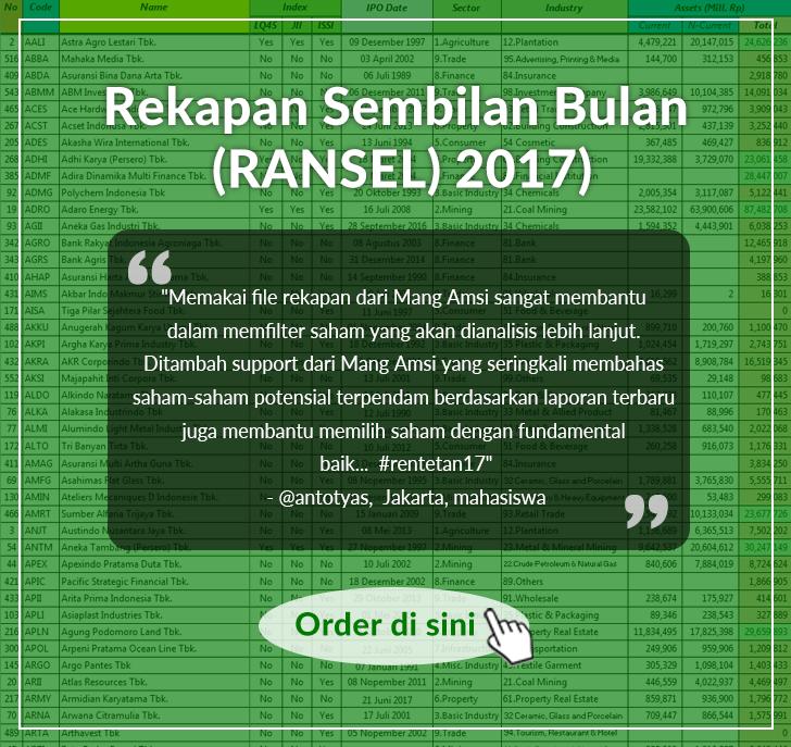 File Rekapan Sembilan Bulan (RANSEL) 2017